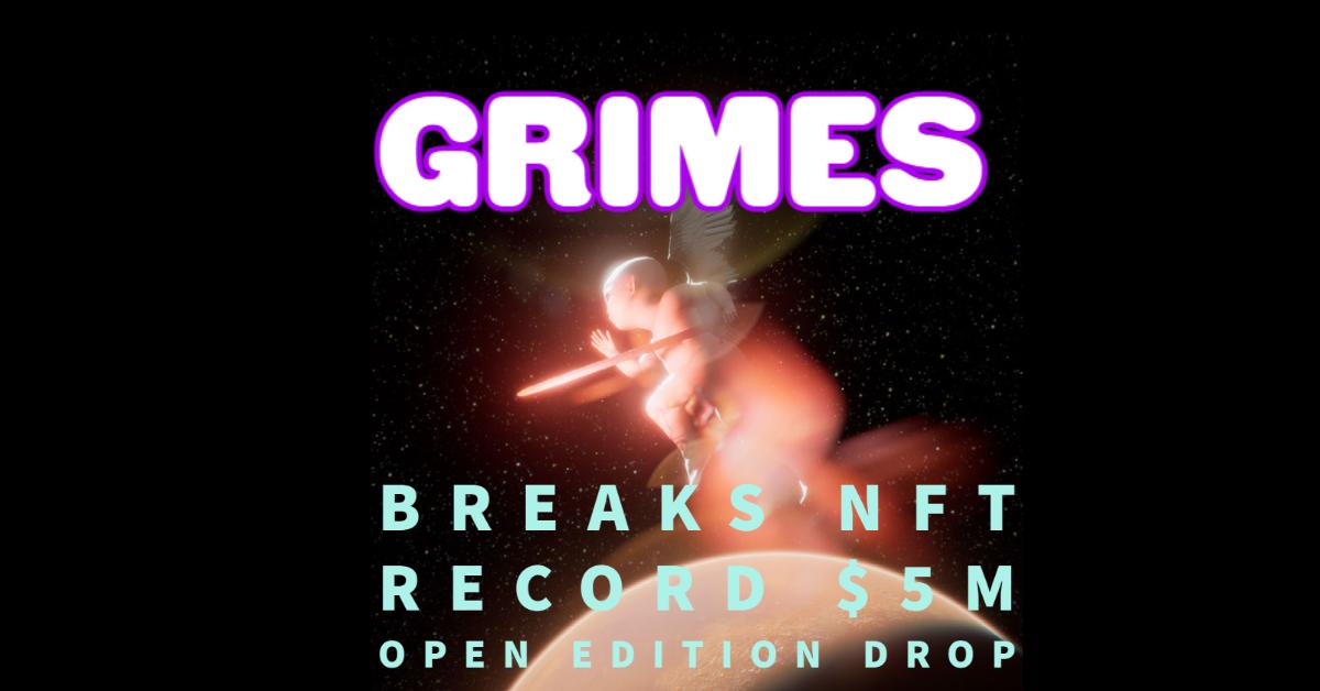 Grimes Breaks NFT Records 5million