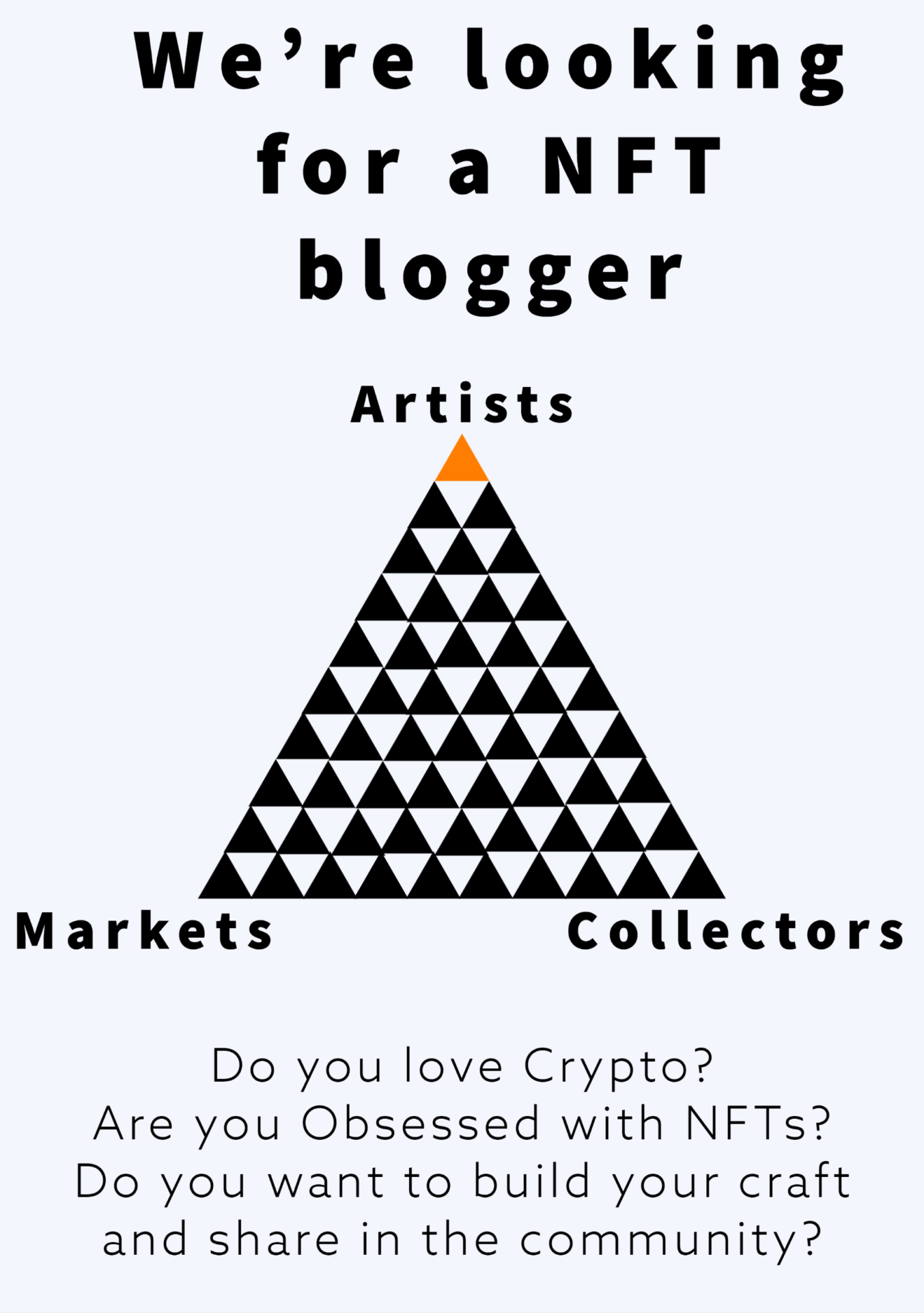 We are looking for a blogger