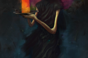 Cosmic Grim Reaper with a Plate of 4th Dimensional Space By Pavel Sokov