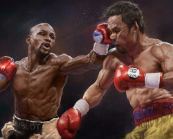 Floyd Mayweather vs Manny Pacquiao by Pavel Sokov