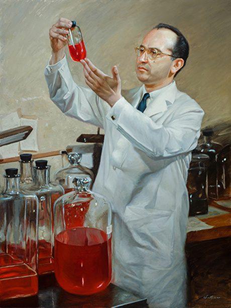 Jonas Salk by Pavel Sokov